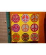 """9 Peace Symbols "" METAL DECORATIVE SIGN DENNIS EAST INTERNAT. 11.25 Sq ... - $9.89"