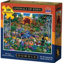 Jigsaw Puzzle Animals of Eden 500 Piece 16 x 20 Dowdle Folk Art - $31.88