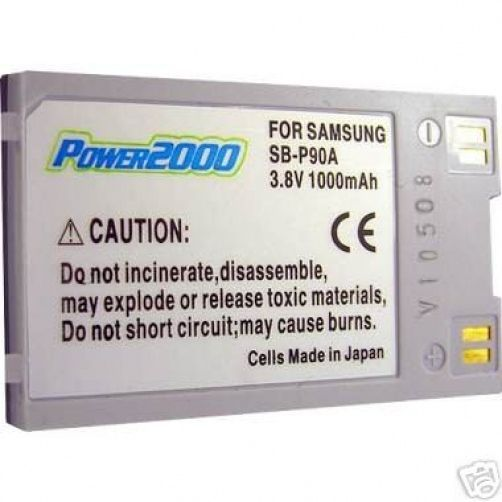 TWO 2 SB-P90A SB-P90AB SB-P90ASL Batteries for Samsung SC-M105 SC-M205 M2200