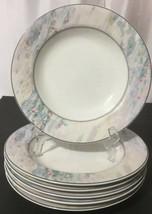Mikasa Maxima CAK01 Monet Set of 6 Rim Soup Bowls Super Strong Fine Chin... - $34.95
