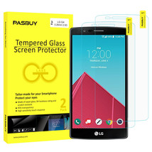 Screen Protector [2Pack PASBUY Retailbox] Tempered Glass for LG G4 - $5.83