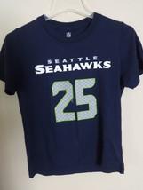 NFL Seattle Seahawks Richard Sherman # 25 Football Jersey T-Shirt Youth M 10/12 - $22.18