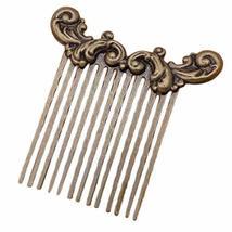 2 Pcs Retro Bronze Sea Wave Side Comb Chinese Style Hanfu Metal Hair Clip 13 Tee - $16.77