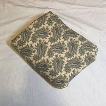 Full Flat Sheet Lauren Ralph Lauren Grey Paisley 100% Cotton - $29.02