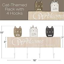 "Wall Mounted Coat Rack with 4 hanging hooks. 16"" Long, Cat Themed, and Ready to  image 3"