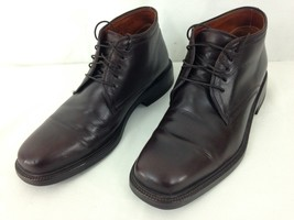 Cole Haan 851317 Mens 8 1/2 Brown Leather Lace Up Ankle Chukka Shoes Boots - $68.31