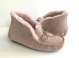 Ugg Alena Pink Crystal Shearling Lined Mocc ASIN Slippers Us 6 / Eu 37 / Uk 4 - $116.88