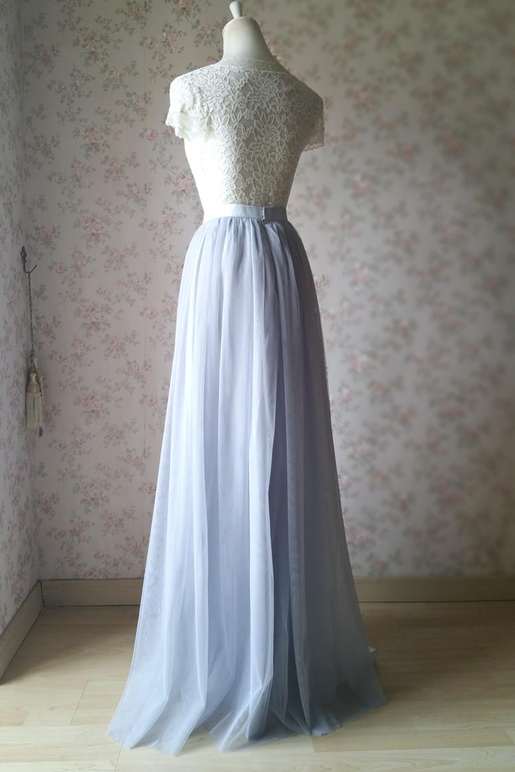 Gray tulle skirt bridesmaid skirt 12