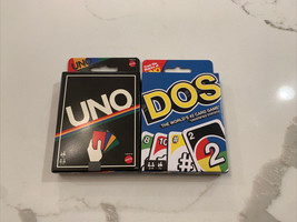 Mattel Retro Edition UNO Card Game And Mattel Dos Card Game - $21.78
