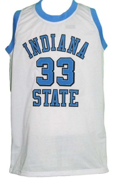 brand new 4eac0 9f984 Larry Bird #33 College Basketball Jersey Sewn White Any Size