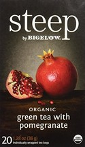 Steep by Bigelow Organic Green Tea with Pomegranate 20 Count Caffeinated... - $17.97