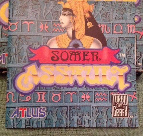 Turbo Grafx 16 Hu-Card Somer Assault. 1992. Very Good.