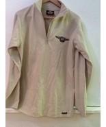 HARLEY DAVIDSON 95 Years 1903-1998 Tan Quarter Zip Long Sleeve shirt Uni... - $27.95