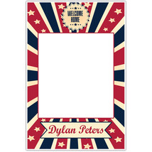 Stars Red and Blue Welcome Home Military Selfie Frame Poster - $16.34+