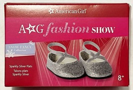 """New American Girl Sparkly Silver Flats Shoes for 18"""" Dolls - $29.65"""