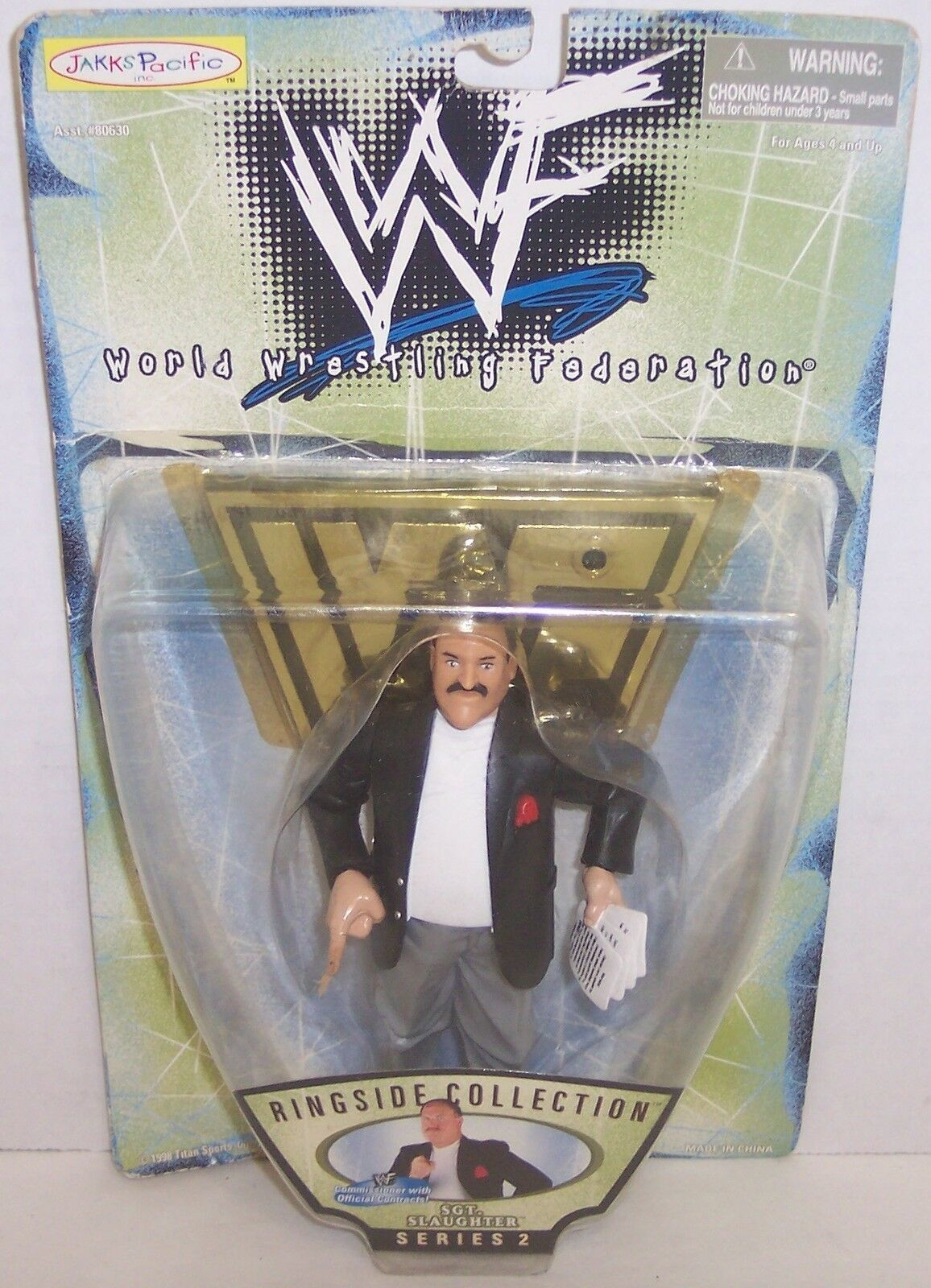 "Primary image for New! 1998 Jakk's Pacific Ringside 2 ""Sgt. Slaughter"" Action Figure WWF WWE [897]"