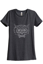 Owl Hipster Women's Relaxed T-Shirt Tee Charcoal Grey - $24.99+