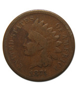 1874 Indian Head Penny / Cent Coin Lot# MZ 3591 - €25,13 EUR