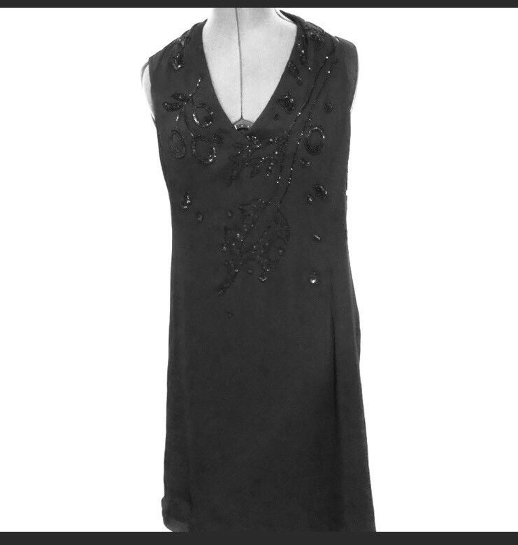 Armani Collezioni Black Halter Lined Dress Size 10 EU 46 Prom Evening