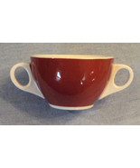 Jackson China SUGAR BOWL Deep Red Double Handle no LID Falls Creek PA Po... - $19.75