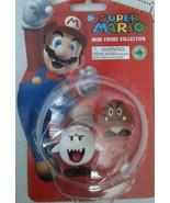 Super Mario Mini Figure Collection Series 4 Boo Buu Huu & Goomba Gumba - $14.69