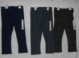SO Capri Pants Girls Size 10 Navy Blue Black Denim Capri Leggings New Lot of 3 - $24.74