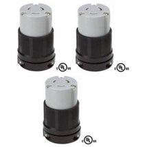 NEMA L6-20 Grounding Locking Connector, 20A 250V AC, 2 Pole 3 Wire, cUL ... - $26.99
