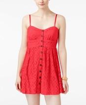 Trixxi Crochet Accent Dress, Size: SMALL, Orange - $29.58