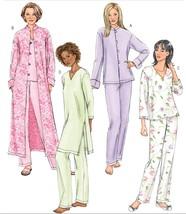 Misses Sleepwear Pajamas Jacket Or Robe Night Shirt Pants Sew Pattern 16-22 - $12.99