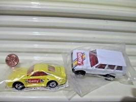 Mattel Hot Wheels 1991 GETTY Set Porsche 959, Range Rover Nu in Sealed Polybags - $19.75