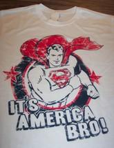 Vintage Style Superman Dc Comics It's America Bro T-Shirt Large New w/ Tag - $19.80