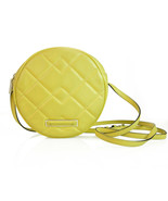 Marc by Marc Jacobs Yellow Quilted Leather Canteen Round Shoulder Bag Cr... - $118.80