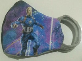 Marvel Avengers Captain AMERICA》2-in-1 Fabric Face Mask》Reversible, Washable - $12.86