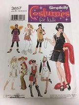 Simplicity 3657 Sewing Pattern, Girls' Costumes, Size A (7,8,10,12,14) - $12.86