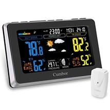 Cumbor Weather Stations with Wireless Indoor Outdoor Sensor, Digital Col... - $37.53