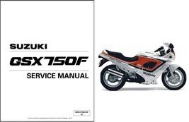 1989-1997 Suzuki GSX750F Katana Service Repair Workshop Manual CD .. GSX 750 F - $12.99