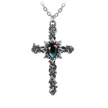 Ivy Cross Pendant by Alchemy Gothic - $29.65