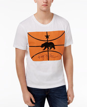Ring of Fire Men's Short-Sleeve White Basketball Print Crew Neck T-Shirt... - £8.61 GBP