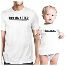 Brewmaster Homebrewed Dad and Baby Matching White Shirt - $29.99+