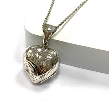 Art Nouveau Style Heart Locket for 4 Pictures 925 Sterling Silver Fob - $59.95
