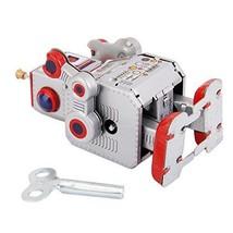 Robot Vintage Collectible Retro Windup Tin Toys MS 406 Walking Drummer G... - $24.27