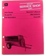 VTG John Deere 76 79 Flail Spreaders Operators Manual Dealer Copy 1970s ... - $17.90
