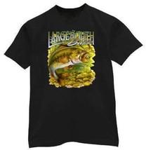 largemouth Bass Fish Fishing Black Tee Shirt T-shirt - $11.99+