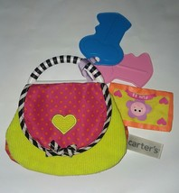 Carters Crinkle 2013 Purse Activity Baby Toy Mirror Pocket Money Pink Keys - $14.80