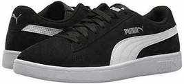 New Puma Men's Suede Smash Black White Casual Retro Sneakers Tennis Shoes