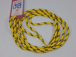"""Yellow Blue Round Youth Shoe Laces 36"""" inches will work for 5 pair of eyelets"""