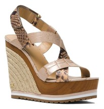 MICHAEL Michael Kors Mackay Embossed Leather Wedge Sandals - $119.99