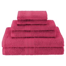 6pc Rosewood Ring Spun Combed Cotton Soft Absorbent Bath, Hand, Face Tow... - $39.95
