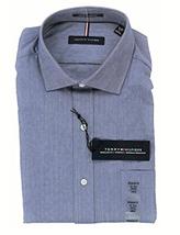 Tommy Hilfiger Stretch Regular Fit Dress Shirt, Blue Micro, M 15-15.5 34-35 - $24.74