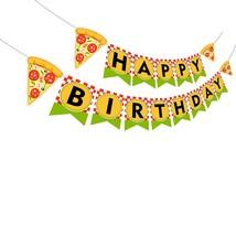 Pizza Happy Birthday Birthday Banner, Pizza Banner, Pizza Birthday Par - £13.08 GBP